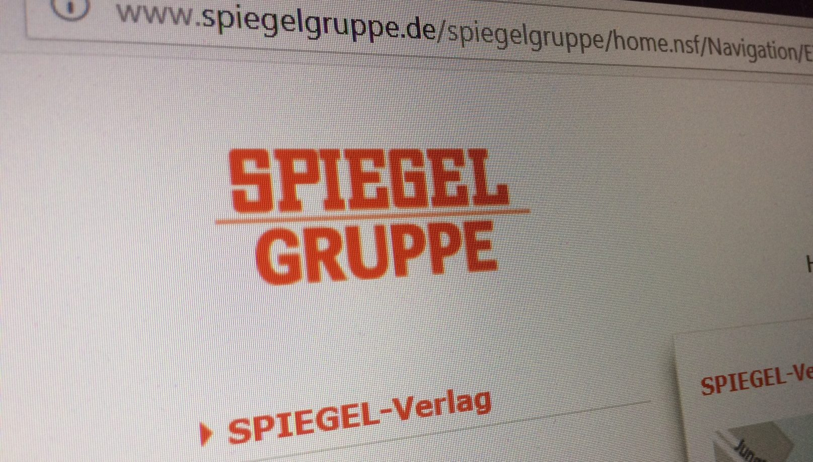 Screenshot Spiegel Gruppe