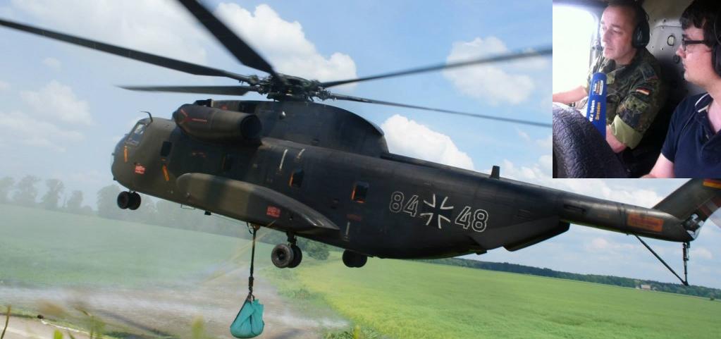 Ein Bundeswehr-Hubschrauber beim Hochwassereinsatz bei Dresden. Auch Soldaten sollen nun zu Influencern werden