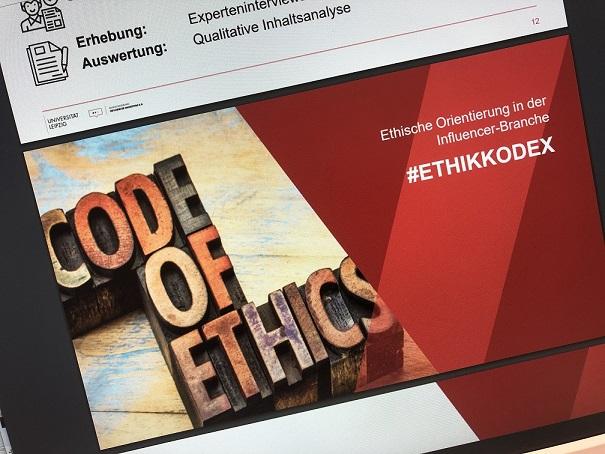 Ein Code of Ethics für Instagram und Influencer Marketing wurde entwickelt. Das Bild zeigt einen Screenshot der Präsentation. Dieser Artikel erklärt, was bei Werbung für Influencer zu beachten ist.